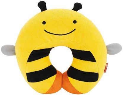 Подушка подголовник желтая