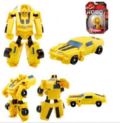 Желтый трансформер -автомобиль