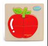 Деревянная рамка-вкладыш яблоко