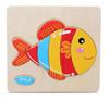 Деревянная рамка-вкладыш рыбка
