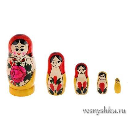 Матрешка Семеновская с красным платком