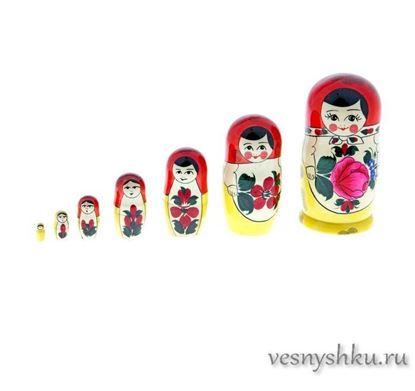 Матрешка Семеновская, 7 кукол