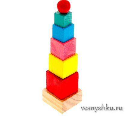 "Деревянная пирамидка ""Учим цвета"""