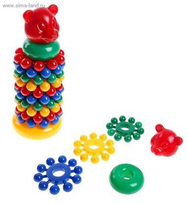 Детская пластмассовая пирамидка с шарами