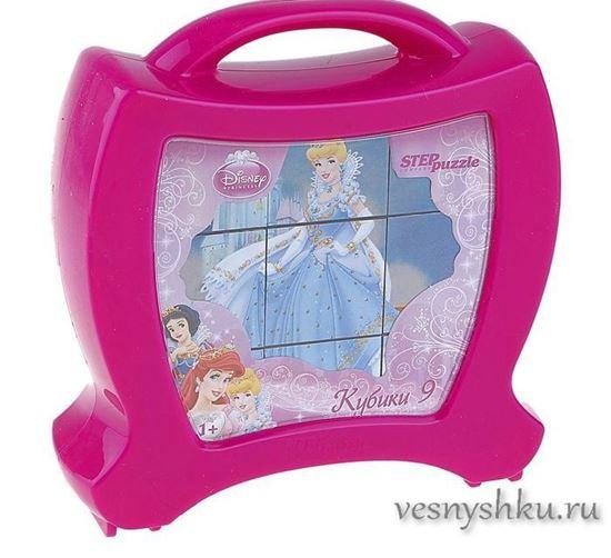 """Пластмассовые кубики для девочек """"Принцессы Дисней"""""""