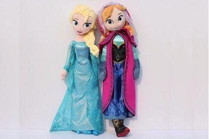 Плюшевые куклы Анна и Эльза