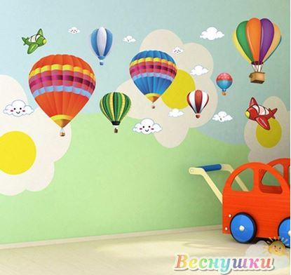 """Набор наклеек на стену """"Воздушные шары"""""""