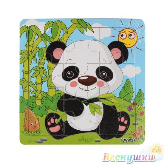 Деревянные пазлы с пандой