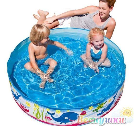 большой бассейн с жесткими бортами картинка