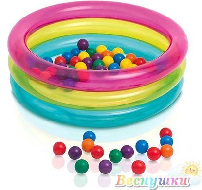 бассейн с шариками надутый