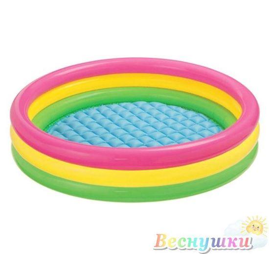 бассейн радуга надутый