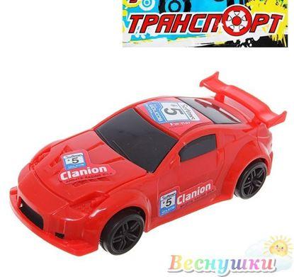 Машинка гонщик красная