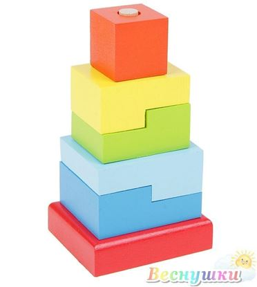 """Деревянная пирамидка малая """"Ступеньки"""""""