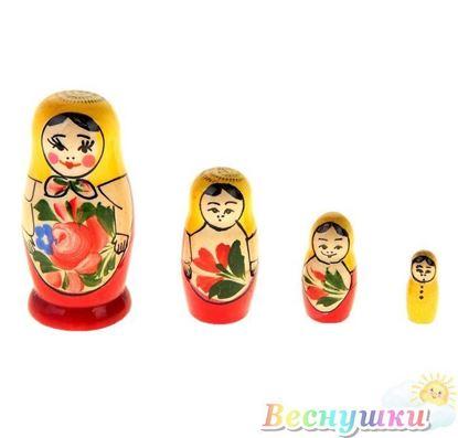 Матрешка из четырех кукол