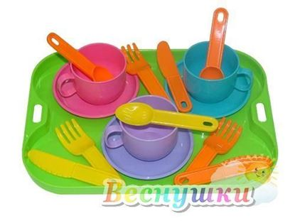 набор детской посуды на 3