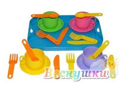 набор детской посуды на 4