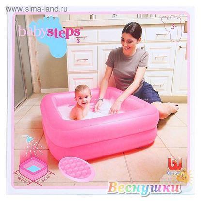 бассейн прямоугольный розовый