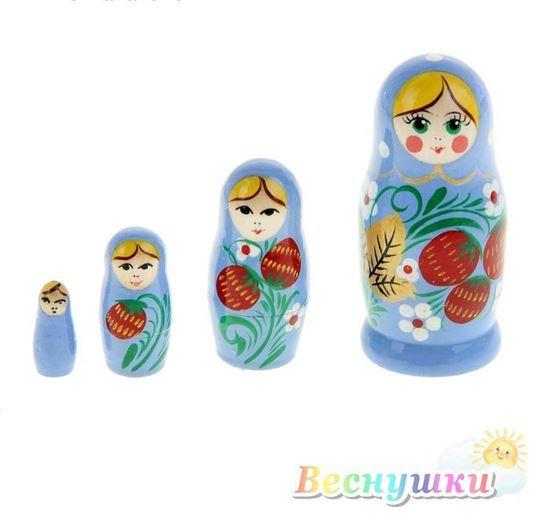 матрешка 4 кукольная ягодки