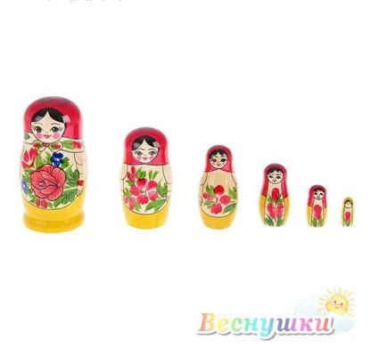 матрешка 6 кукол семеновская