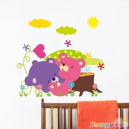Милые наклейки на стену в детскую комнату