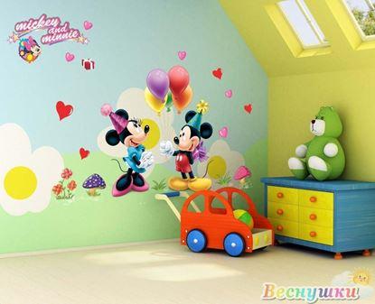 """Наклейки на стену """"Микки и Минни"""""""