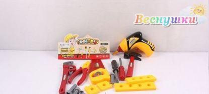Игровой набор Строительных инструментов с механической дрелью