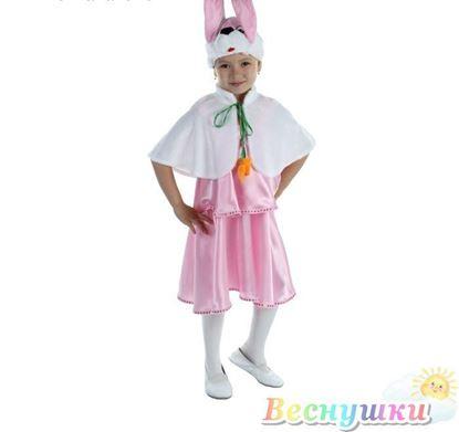зайка костюм розовый
