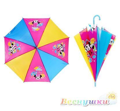 Детский зонт Минни Маус со свистком
