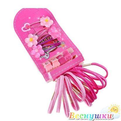 """Набор для волос """"Цветочек"""" (4 невидимок,4 краба,12 резинок)"""