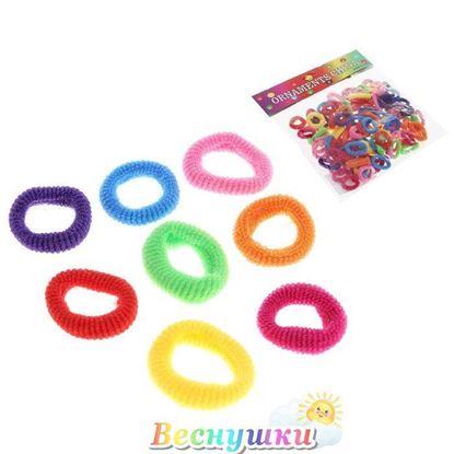 """Резинки для волос """"Махрушка"""" (набор 100 шт.) разноцветные"""