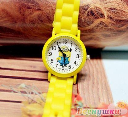 """Часы """"Миньоны"""" жёлтые"""