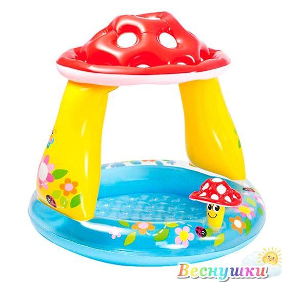 """Детский надувной бассейн """"Гриб"""""""